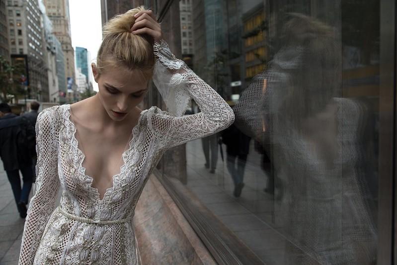 Inbal Dror 2016 Wedding Dresses - Ivory Mermaid long sleeves wedding dress | itakeyou.co.uk