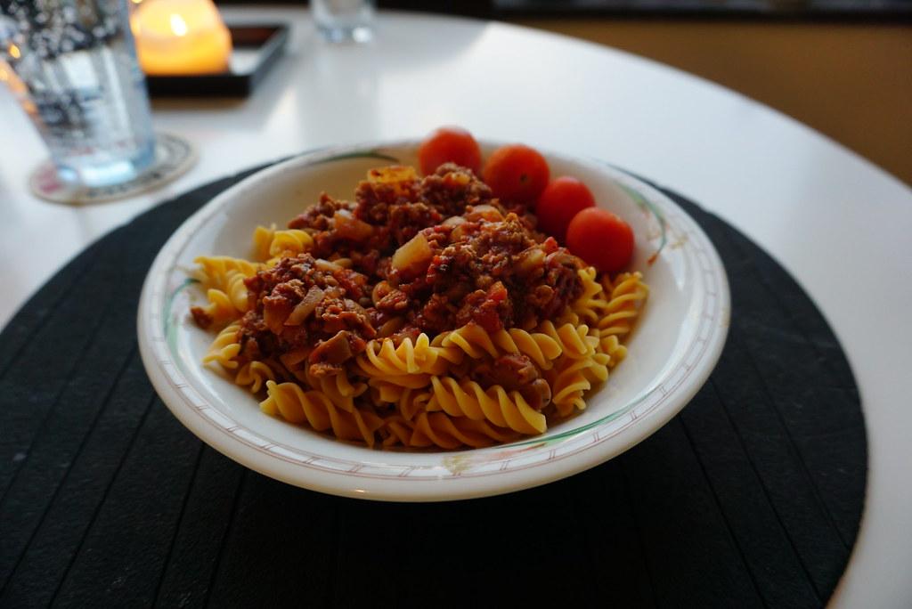 Kikärtspasta med vegetarisk bolognese