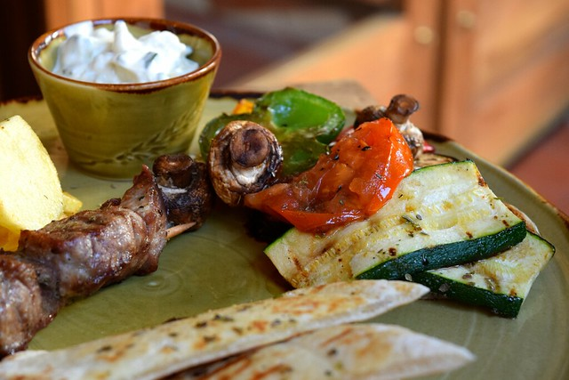Griddled Vegetables & Tzatziki at Zeus, Canterbury | www.rachelphipp.com @rachelphupps
