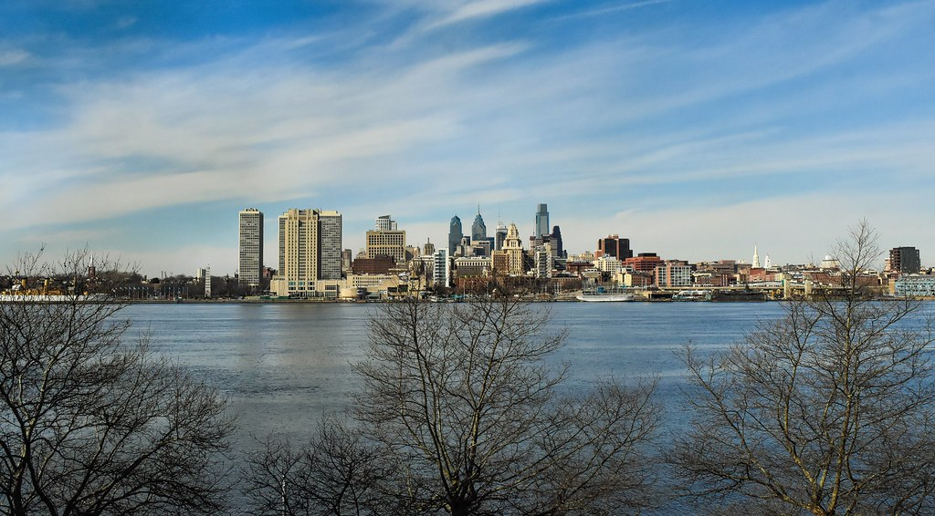 City Travel Blue Trees Sky Usa Philadelphia Water Beautiful Skyline Clouds Skyscraper River Landscape Photography Nikon