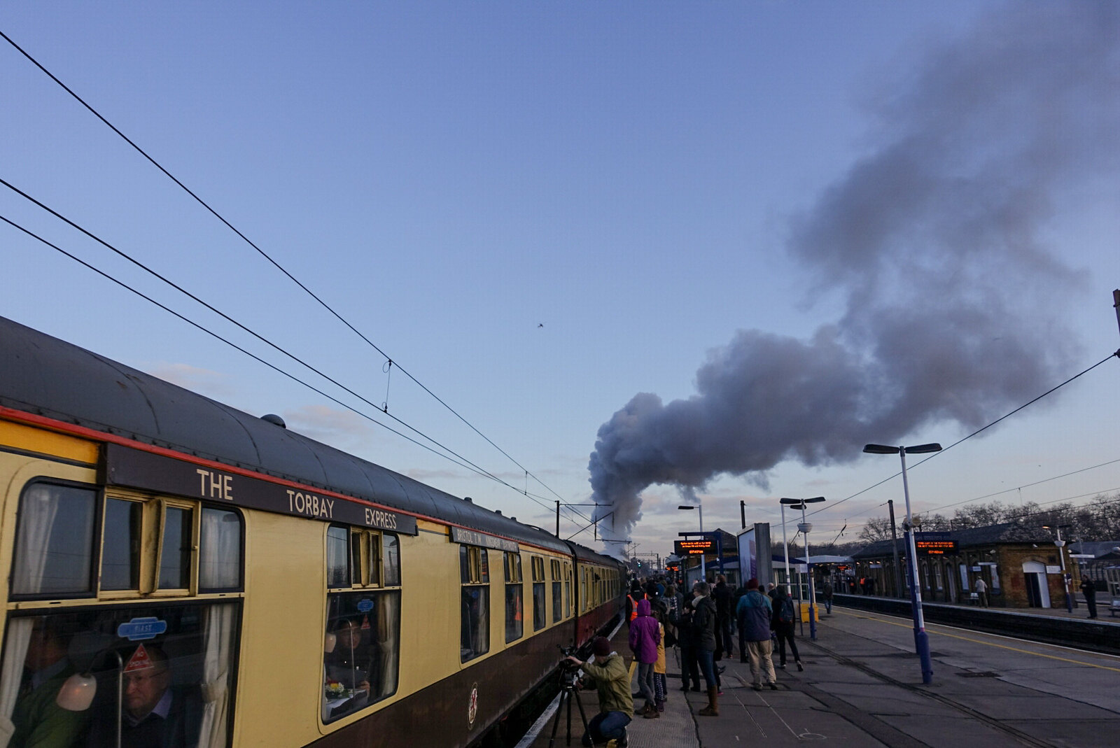 The Flying Scotsman passes through Finsbury Park Station