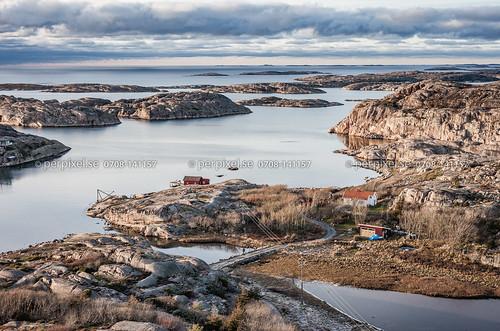 3 natur sverige swe västragötaland bovallstrand sjöbod flygfoto