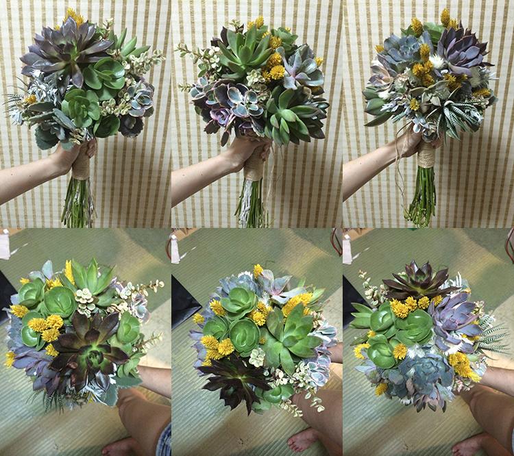 婚紗相本DIY 多肉植物花束