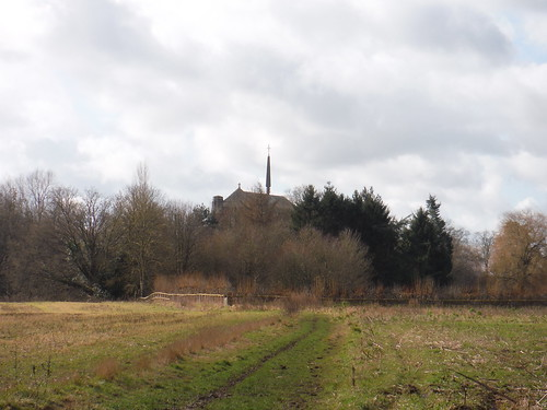Douai Abbey from afar