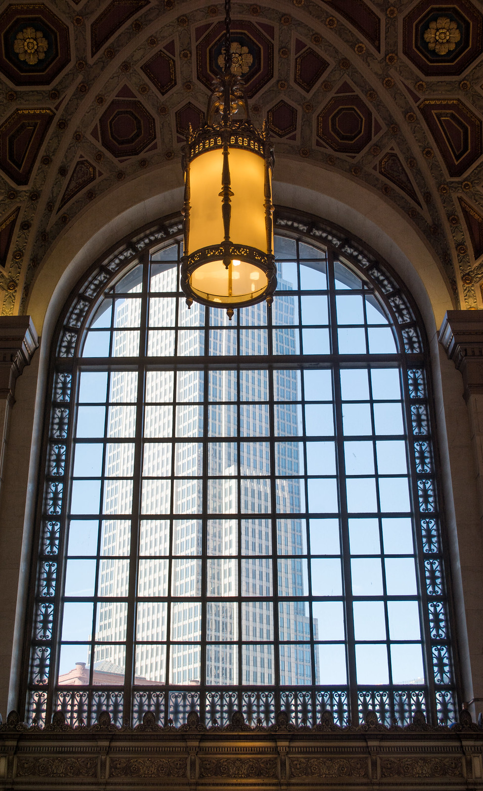 lobby window - Terminal Tower - Cleveland Ohio