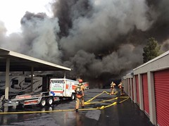 Two Alarm Storage Facility Fire damages 37 vehicles on 4-9-2016