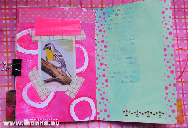 Mini Art Journal Bird & Space - created by iHanna