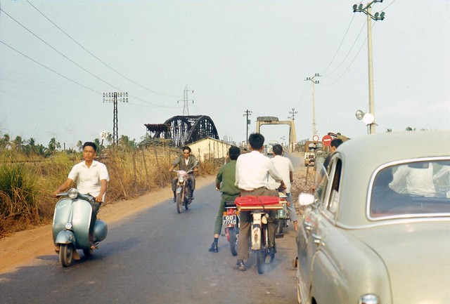 Vietnam 1969 - Photo by Bernie - On the road from Bien Hoa to Siagon.