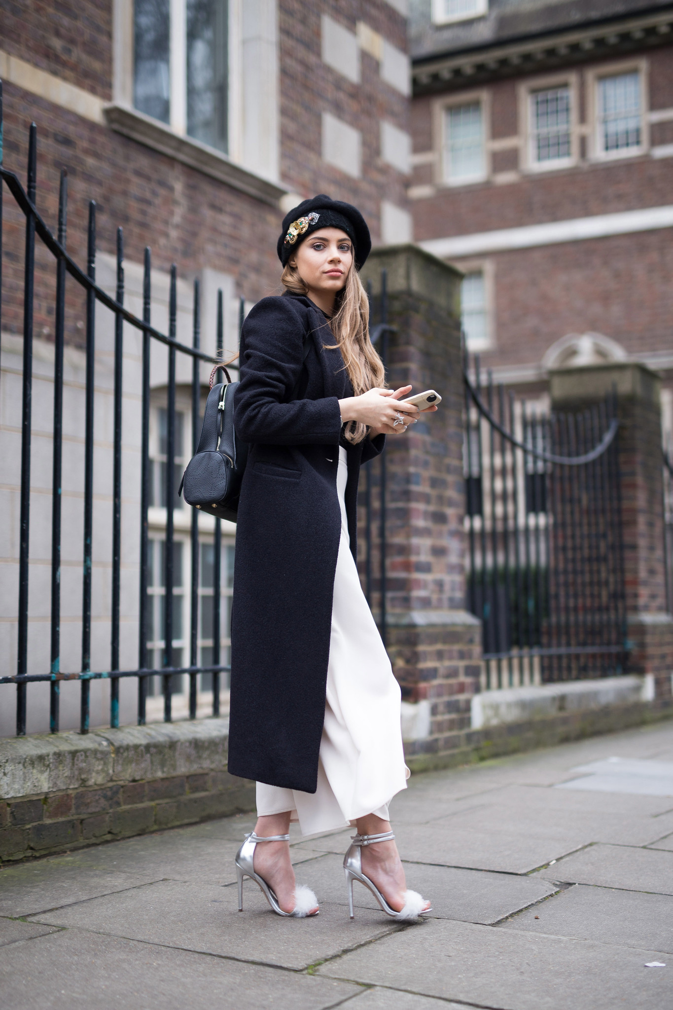 Street Style - Xenia Tchoumi, London Fashion Week
