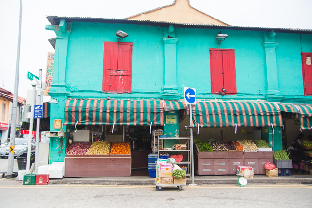 colourful architecture in Little India Singapore
