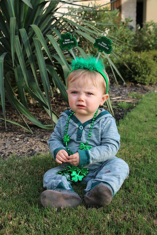 Not a fan of his St. Patrick's Day attire