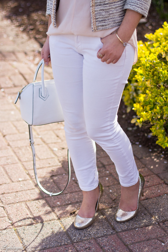 silk blouse, jacket, white jeans, silver pumps-3.jpg