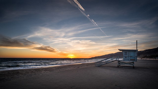 Sunset in Malibu - California, United States - Seascape photography
