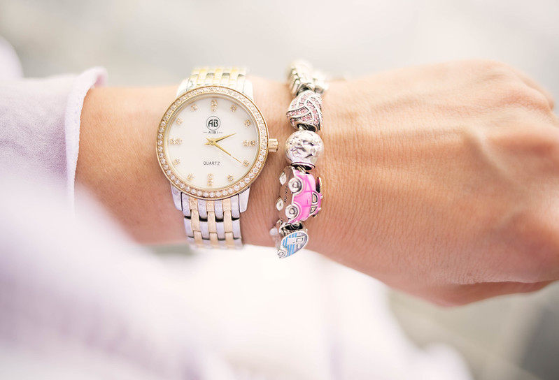 cute & little blog | aibi silver gold watch, soufeel charm bracelet mother's day