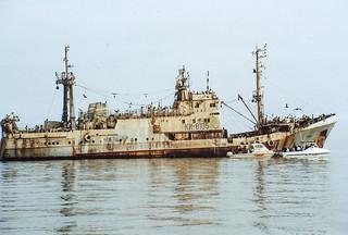 Wrack eines russischen Fischtrawlers