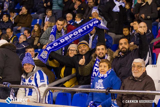 La afición en el Dépor - Villarreal