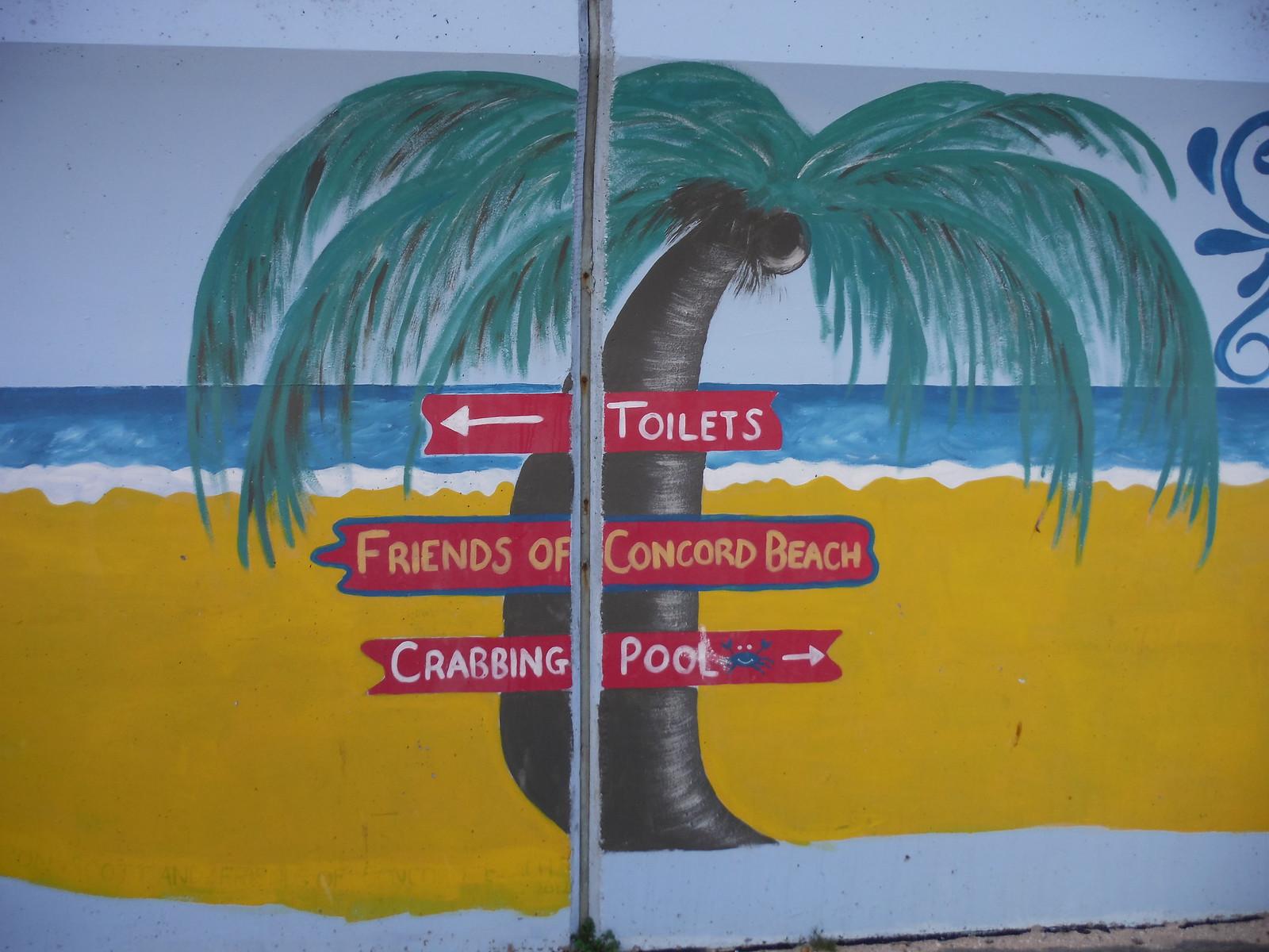 Concord Beach mural, Concord Beach, Canvey Island SWC Walk 258 Benfleet Circular (via Canvey Island)