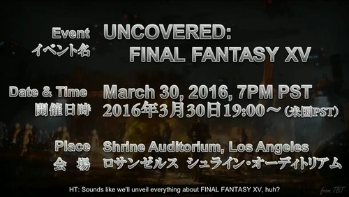 Final Fantasy XV ATR