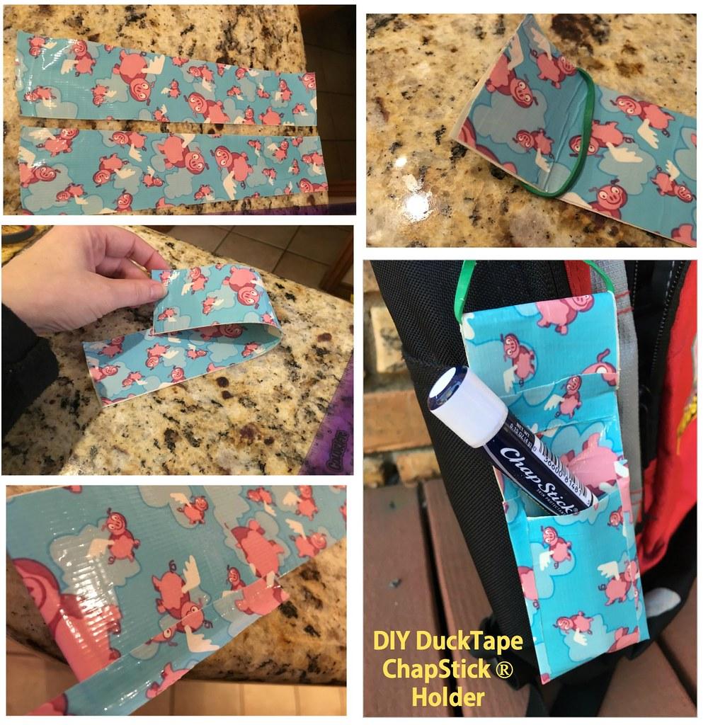 DIY DuckTape ChapStick Holder