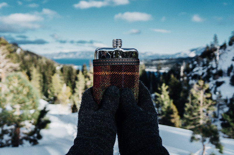 SWIG Flasks Red Tweed | www.latenightnonsense.com