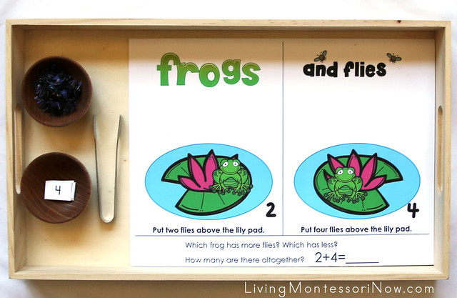 Frogs and Flies More, Less, and Altogether Activity