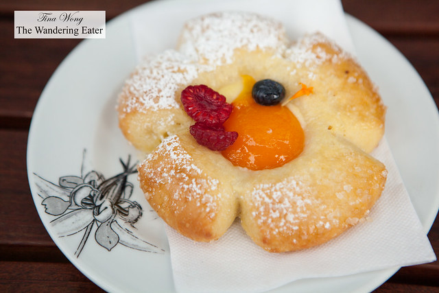 Broiche with apricot and fresh berries