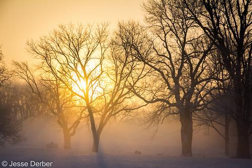 snow sunrise illinois