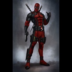 #Deadpool console game design concept art by @imbillyking   #comics