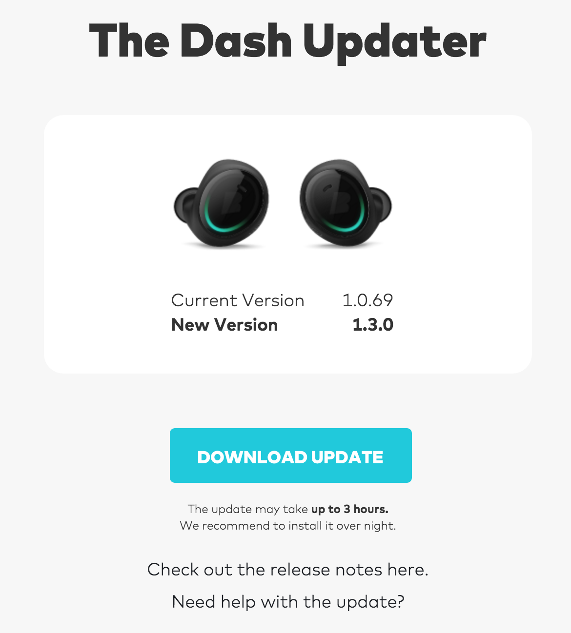 Bragi Dash Updater