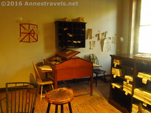 Newspaper office in Franklin Court, Independence National Historic Site, Philadelphia, Pennsylvania