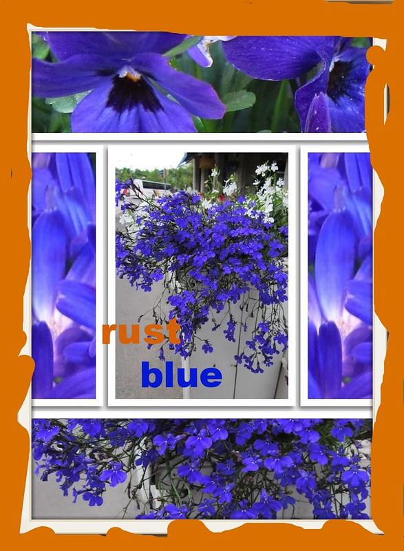 sininen ja ruoste
