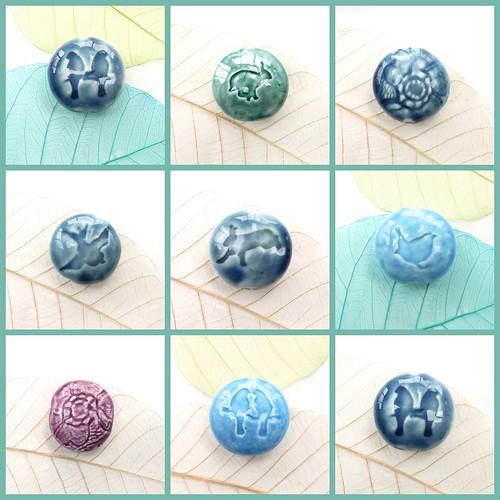 ceramic beads colage