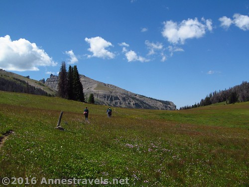 Making our way back through Bonneville Pass to the parking area, Shoshone National Forest, Wyoming