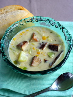 Smoked Tofu Corn Chowder