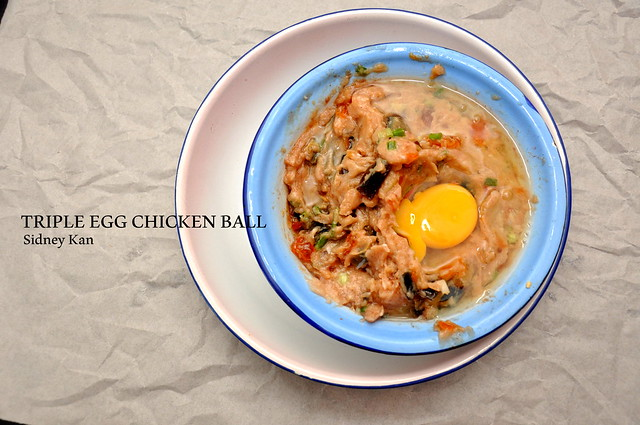 Triple Egg Chicken Ball with Philips Airfryer 3