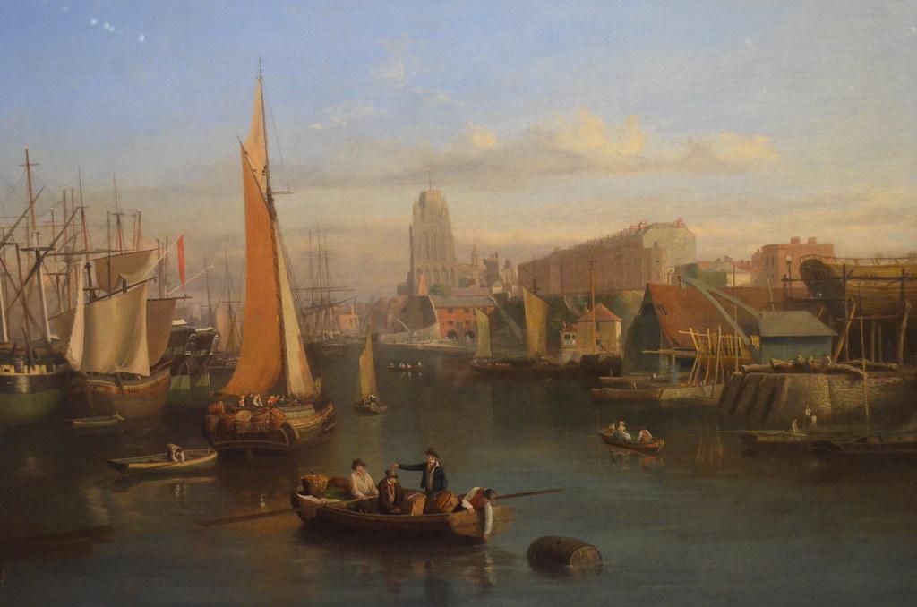 >Le port de Bristol sur une peinture exposée au M-Shed.