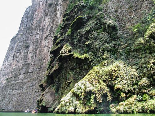 Cañon del Sumidero: cascade assèchée qui a sculpté la roche