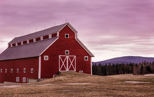 winter sunset red barn landscape us vermont unitedstates greensboro northeastkingdom nek