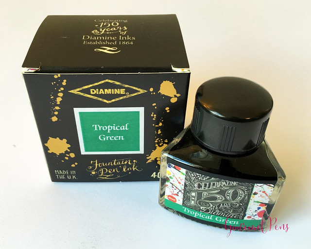 Ink Shot Review Diamine 150th Anniversary Tropical Green (9)