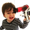 Rowan is obsessed with hair dryers. We got him a toy one and he loves it :heart:️