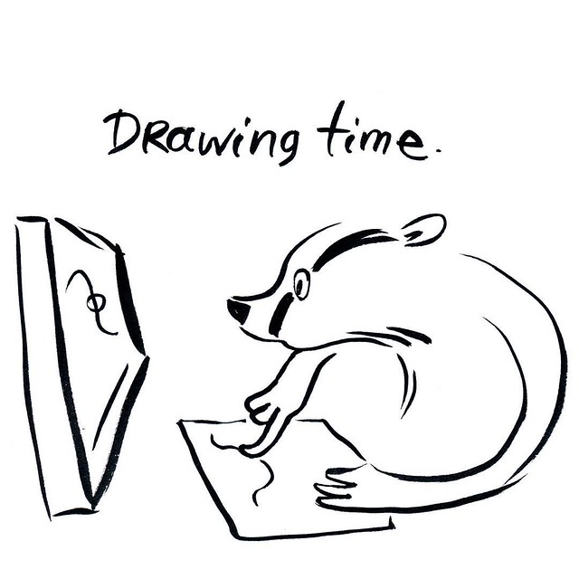 It's drawing time! #badger #badgerlog #parenting #drawing #wacom #tablet