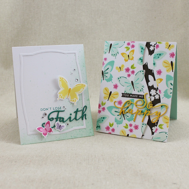Color Pop Butterfly Cards