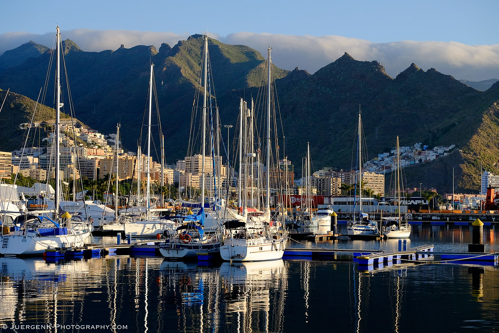 Yacht harbor in morning light