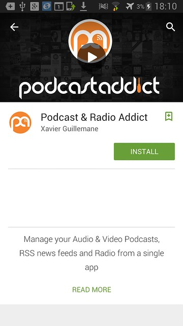 2 podcast and radio addict install
