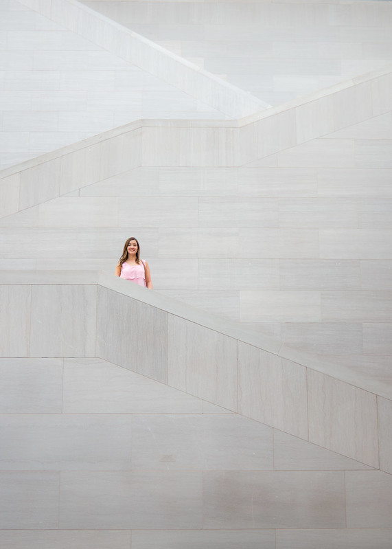Deya on the Stairs at the National Gallery of Art