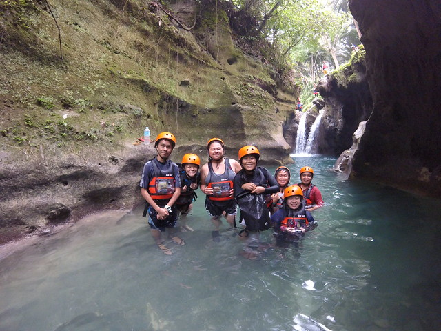 Our Group Trying Canyoneering in Cebu