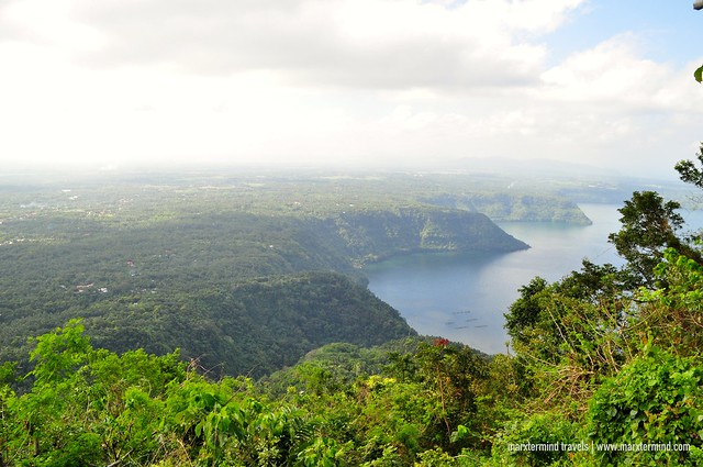 View of Taal Lake while Hiking Mount Maculot