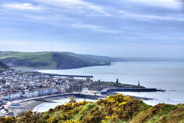 Aberystwyth town from Constitution Hill