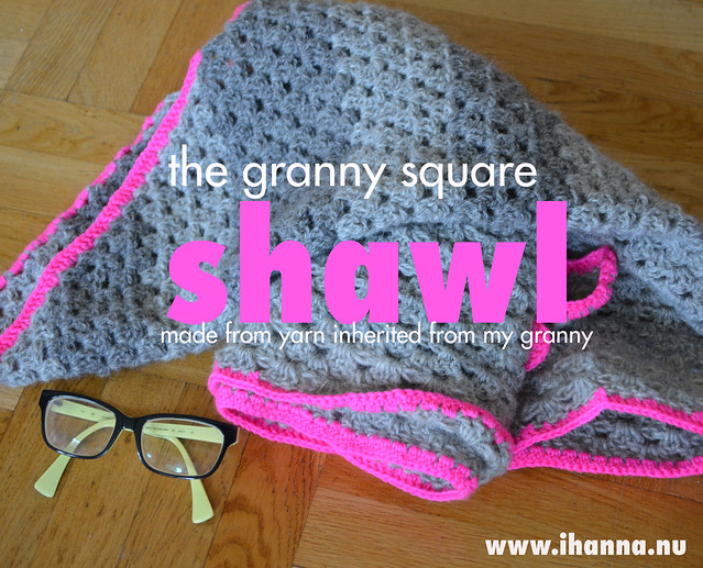 The Crocheted Gray Granny Square Shawl
