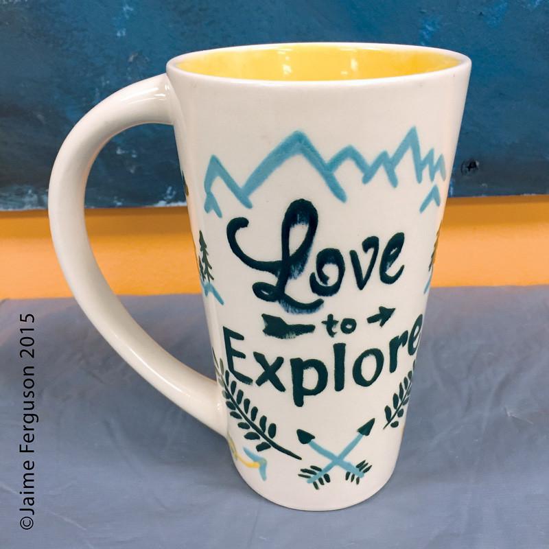 Front of Lettering Mug
